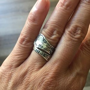 Jewelry - .925 Sterling Silver Spoon Ring